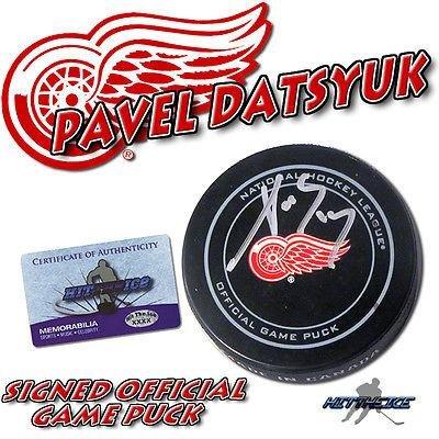 Autographed Pavel Datsyuk Puck - OFFICIAL w COA #1 - Autographed NHL Pucks