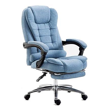 Computer Chair Home Office Chair Fabric Reclining boss Chair Lifting Swivel Chair Flat Reclining Office Chair