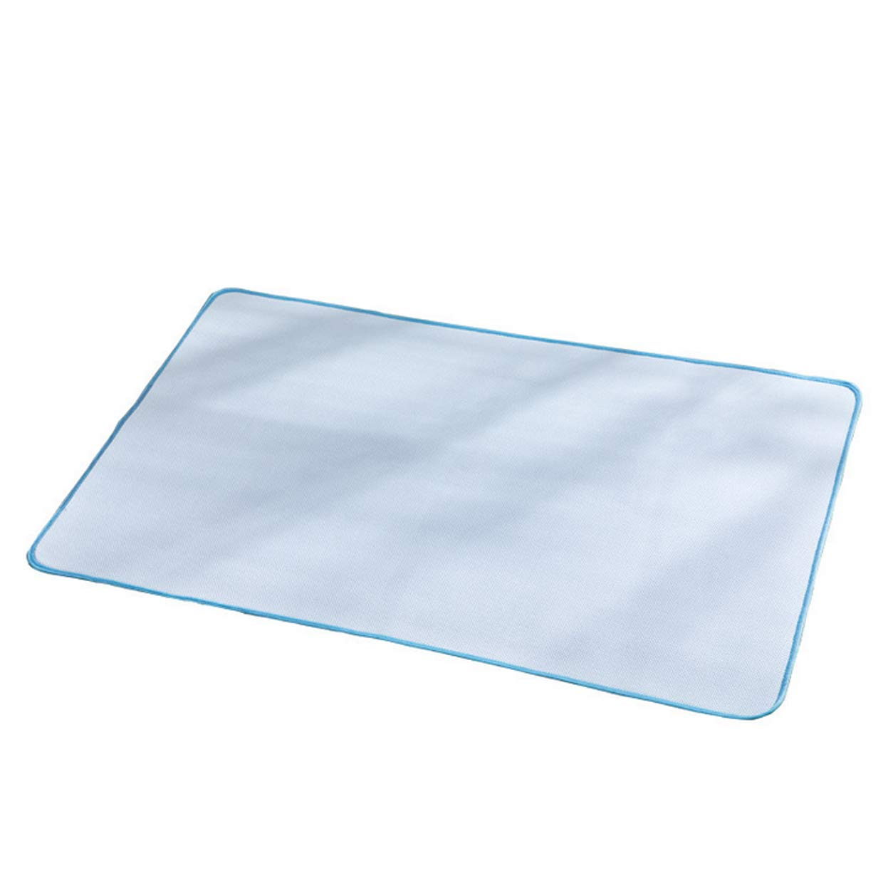 Ggsrtesxs Adult Absorbent Premium Quality Bed Pad Bamboo Fiber Three-Layer Non-Slip Sheets Quilted Waterproof Reusable Washable,Light Blue,60x90cm by Ggsrtesxs