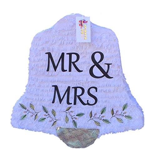 APINATA4U Mr & Mrs Wedding Bell Pinata 19
