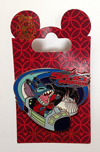 Stitch on Rocket Ship Space Mountain Disney Pin