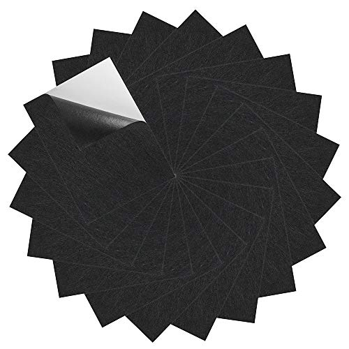 (Caydo 20 Pieces Black Adhesive Back Felt Sheets Fabric Sticky Back Sheets, 8.3 by 11.8