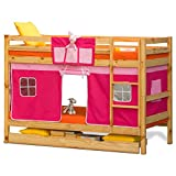 Alex Daisy Oslo Premium Bunk Bed for Kids - Pink