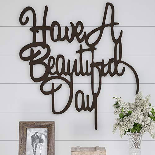 - Lavish Home Metal Cutout-Have a Beautiful Day Wall Sign-3D Word Art Home Accent Decor-Perfect Modern Rustic or Vintage Farmhouse Style