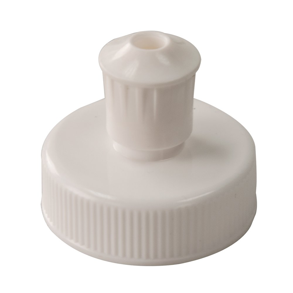 White Push-Pull Closure for 33mm by 400 Thread Mouth Bottle (120 Closures) by Verified Exchange
