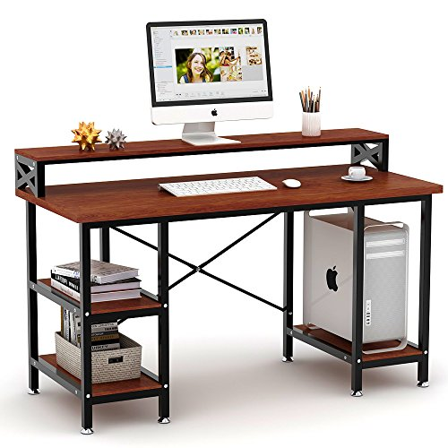 Tribesigns Computer Desk with Storage Shelves, 55