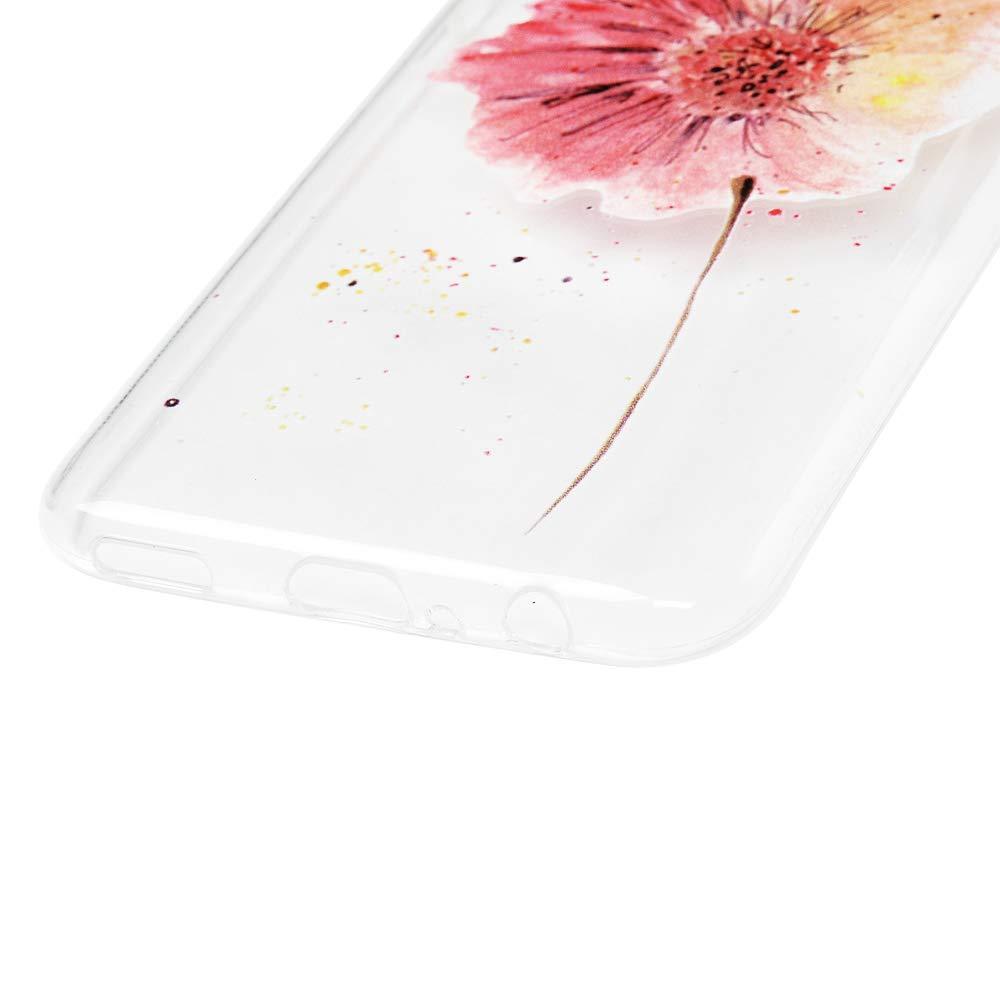 Silicone Housse Protection Bumper Antichoc Case Cover Coques en TPU Peint Plumes Color/ées+F/ée de Papillon GuardGal 2xCoque pour Huawei Honor 10 Lite//Huawei P Smart 2019 Universel
