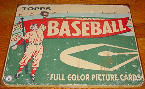 Topps Baseball Full Color Picture Cards Vintage Retro Style Reproduction Sign