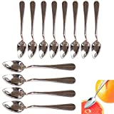 12 Pack Grapefruit Long Spoon Stainless Steel Serrated Edge Dessert Cirtus Fruit