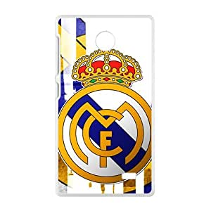 Real Madrid Club de F¡§2tbol Fashion Comstom Plastic case cover For Nokia Lumia X