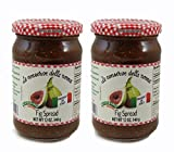 All Natural Fig Spread - No Pectin - No Preservatives - Gluten Free - 2 pack - Product of Italy
