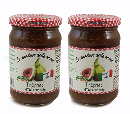 All Natural Fig Spread - No Pectin - No Preservatives - Gluten Free - 2 pack - Product of Italy by Le Conserve Della Nonna