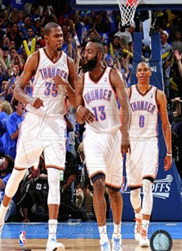 c3ab2548648 Image Unavailable. Image not available for. Color  Oklahoma City Thunder -  Russell Westbrook James Harden Kevin Durant ...