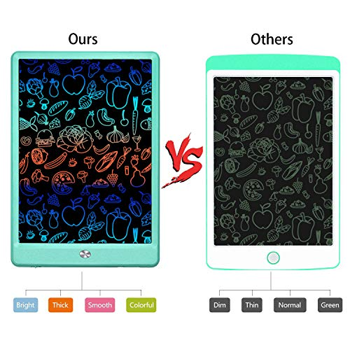 KURATU LCD Writing Tablets for Kids 10 inch Colorful Screen Electronic Drawing Pads Writing Board & Drawing Tablet Doodle Board Writing Tablets(Green)