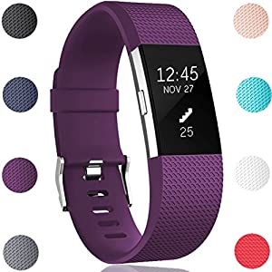 GEAK Replacement Bands for Fitbit Charge 2, Fitbit Charge2 Wristbands,Small,Plum