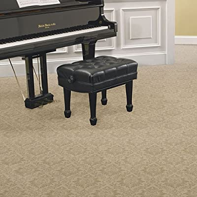 Runner 2.5'x12' Chateau Chrushed Velvet Indoor Cut Pile Pattern Area Rug for Home with Premium BOUND Polyester Edges.