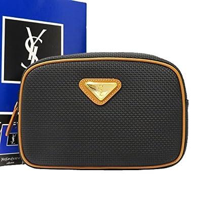new product e8852 8e9ec Amazon | イヴサンローラン YSL クラッチバッグ ポーチ ネイビー ...