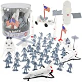 Space and Astronaut Toy Action Figures - Big Bucket of Astronauts - Huge 60 Pc Set
