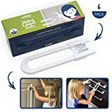 Wittle Child Safety Sliding Cabinet Lock - 6 Pk, White. Baby Proof Cabinet Knobs - Handles - Drawers. No Tools, Drilling, Magnets, or Adhesive. Multipurpose & Reusable U Shape Easy Slide Latch Locks.