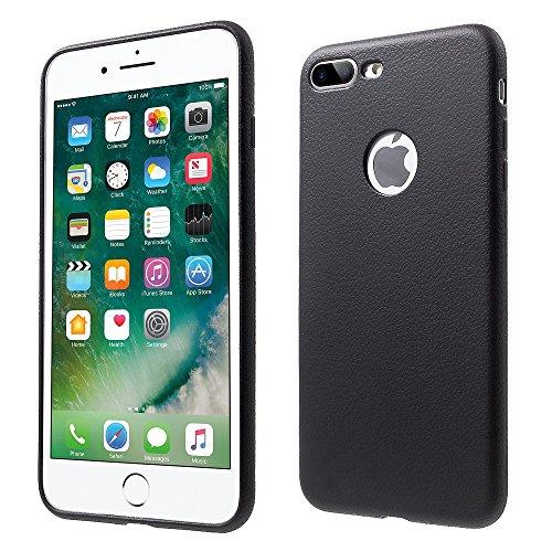 XINCUCO Soft TPU Mobile Phone Tasche Hüllen Schutzhülle - Case für iPhone 7 Plus with Litchi Texture - schwarz