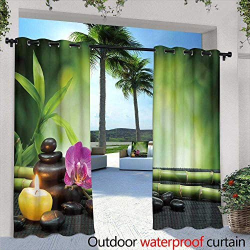 berrly Outdoor Blackout Curtains,Copper Plate Texture, Old Metal Background,W84 x L108 Thermal Insulated Water Repellent Drape for Balcony