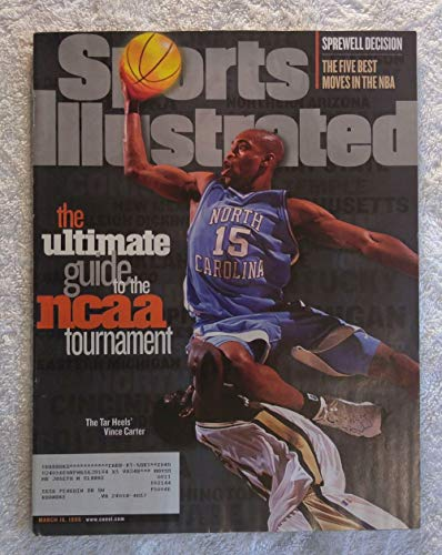 Basketball Vince Carter (Vince Carter - North Carolina Tar Heels - The Ultimate Guide to the NCAA Tournament - Regional Cover - Sports Illustrated - March 16, 1998 - College Basketball - SI)