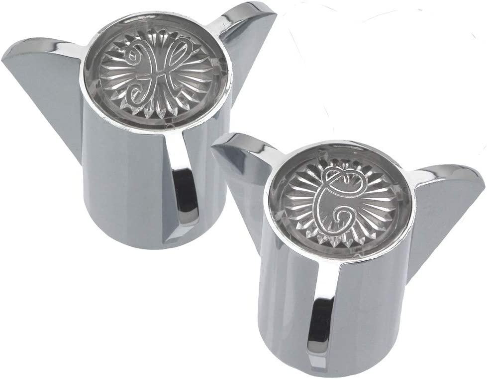 DANCO Durable Metal Constructed Handles for Sayco Faucets, Chrome, 1-3/8-Inches x 2-Inch, 1-Pair (88084)
