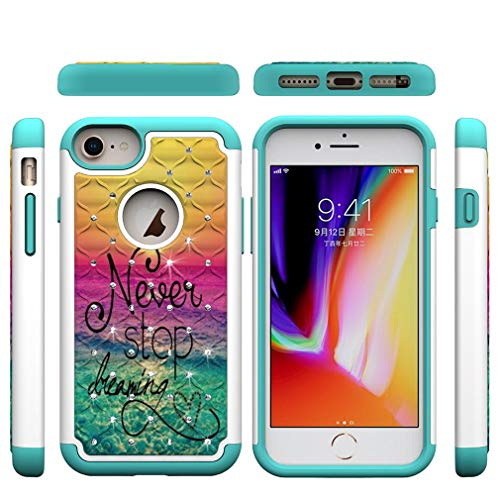 Firefish iPhone 6/6S/7/8 Plus Case,Durable 2 in 1 Hybrid Case Soft TPU Bumper Hard PC Back Cover with Creative Pattern & Point Drill Compatible with Apple iPhone 6/6S/7/8 Plus [5.5 inch] -Dreaming
