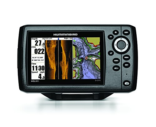 (Humminbird 409640-1 Helix 5 SI Fish Finder with Side-Imaging and GPS)