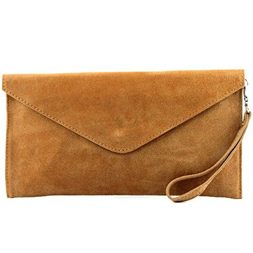 handcuffs Wrist Leather leather bag Shoulder ital Wild bag modamoda Underarm T106 Evening de bag Clutch Camel2 bag bag EHXEZwqn7