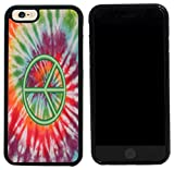 Rikki Knight Case Cover for iPhone 6/6s - Green Peace Sign on Tie Dye Design