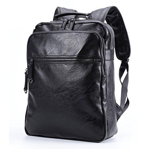 mochila/Mochilas de los hombres/Mochilas de los estudiantes coreanos/Bolsa de ordenador portátil de cuero de moda-B A