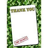 Army thank you notes with envelopes by Ellie Dog Designs