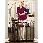 Regalo Home Accents 43-Inch Extra Wide Walk Thru Gate, Home Décor Hardwood and Steel
