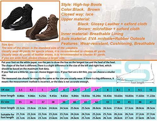 Hombre Marrón Militar Deportes Desert Militares Táctico Botas Aire Zapatos Calzado Sinoes Excursionismo Trabajo Libre B31006 Cámping Al Servicio Ejército Botines AYHyRw