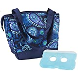 Fit & Fresh Ladies Hyannis Insulated Designer Lunch Bag, Blue Paisley
