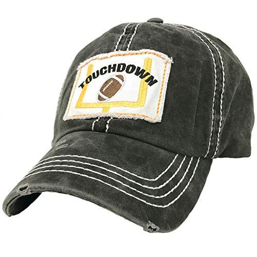 Distressed Embroidered Patchwork Cotton Baseball Visor Sun Cap Dad Hat