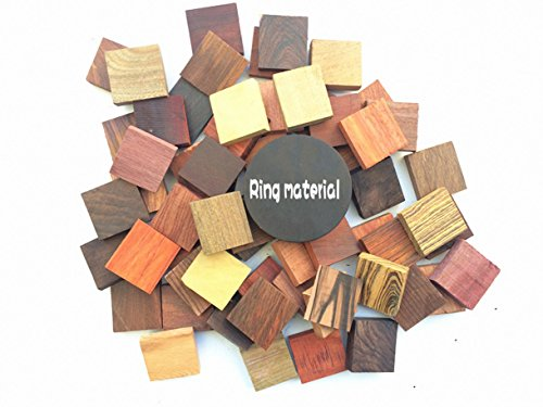 21pcs (different stlye)Ring material ,Unfinished wood ring,Wood Blanks Crafts Wood Ring Timber Tones/Wood picks 4x4x1cm (Best Material For Ring)
