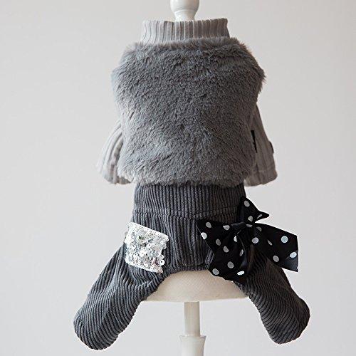 Y-Hui simpatico cane abbigliamento due pezzi Pet Abbigliamento Teddy Bichon Cuccioli quattro piccoli Volpino autunno e inverno abbigliamento