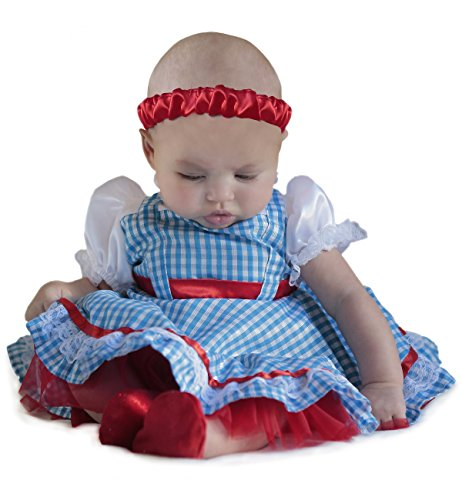 Princess Paradise Baby Girls' The Wizard of Oz Dorothy Newborn Deluxe Costume, As Shown, 0/3M