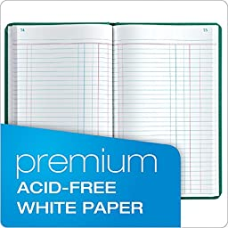 Boorum & Pease 66 Series Account Book, Journal Ruled, Green, 150 Pages, 12-1/8\