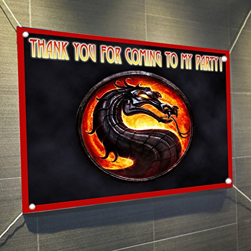 MORTAL KOMBAT Combat Banner Video Game Large Vinyl