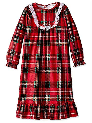 (Komar Kids Girls Traditional Holiday Christmas Plaid Nightgown Pajamas (Medium / 7-8, Girls)