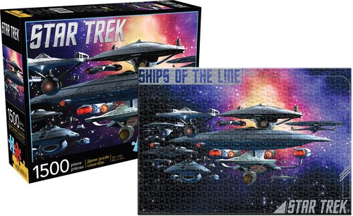 Aquarius Star Trek Federation Ships Puzzle (1500 Piece)