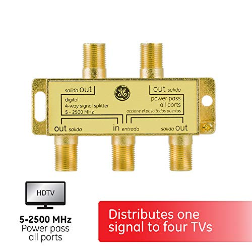 GE Digital 4-Way Coaxial Cable Splitter