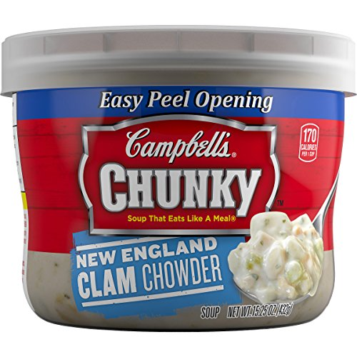 Campbell's Chunky Soup, New England Clam Chowder, 15.25 Ounce (Pack of 8) (Packaging May Vary)