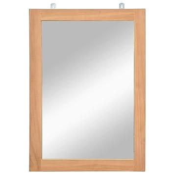 Fesjoy Miroir à Cadre en Bois Miroir de Salle de Bain Miroir ...