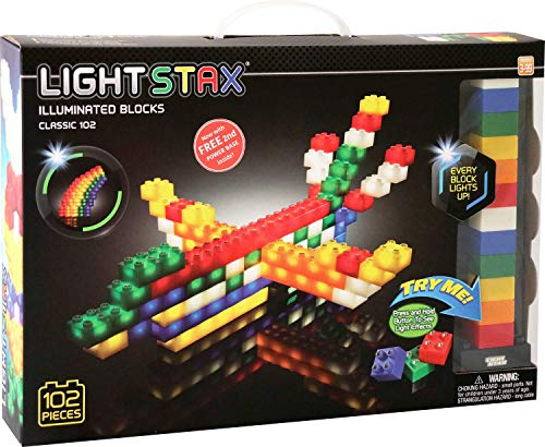 Light Stax Illuminated Blocks Mega Set, 102 Pieces