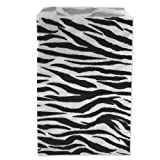 Health & Personal Care : 100 Zebra Print Paper Bags 8.5 x 11 Inches, Flat Merchandise Bags