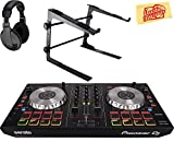 Pioneer DDJ-SB2 Portable 2-Channel Controller for Serato DJ Bundle with Stand, Headphones, and Austin Bazaar Polishing Cloth